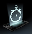 Stopwatch icon Hologram vector image vector image