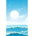 Stormy seascape background vector image vector image