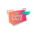 super sale banner 50 percent vector image