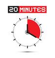 Twenty Minutes Stop Watch - Clock vector image vector image
