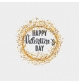 Valentines day - calligraphy typography badge It vector image vector image