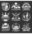 Vintage Bakery Emblems Set vector image vector image