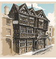 Vintage View of Feathers Hotel at Ludlow in vector image vector image