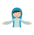 virgin mary character isolated icon vector image vector image