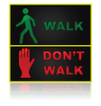 Walk and dont walk sign vector image