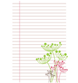 white sheet of paper in line vector image