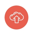 Cloud with arrow up thin line icon vector image