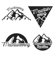 Vintage mountaineering emblems vector image