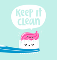 Keep it clean vector image