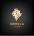 lion head in profile Template Logo vector image
