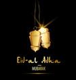 ramadan kareem greeting card golden lanterns and vector image