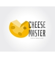 Abstract cheese logo template for branding vector image vector image