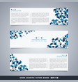 abstract of blue geometric pattern banner vector image vector image