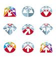 Abstract unusual icons set creative symbols vector image vector image
