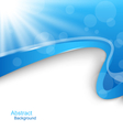 Abstract Wavy Background with Blue Rays vector image vector image