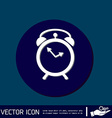 Alarm icon The clock shows the time vector image vector image