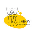 allergy concept - drawn sketch blowing man