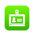 badge office icon green vector image vector image