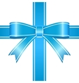Blue Bow vector image