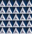 blue regular triangular background vector image vector image