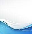 Blue wave abstract modern background vector image vector image