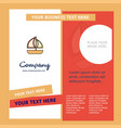 boat company brochure template busienss template vector image vector image
