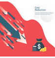 business finance crisis concept money fall down vector image