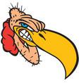 buzzard head logo mascot vector image vector image