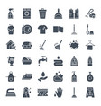 cleaning solid web icons vector image