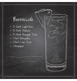 Cocktail Barracuda on black board vector image vector image