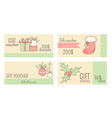 collection of horizontal christmas gift vouchers vector image vector image