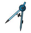 compass geometry utensil vector image vector image