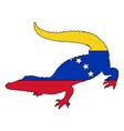 Crocodile Venezuela vector image vector image