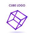 cube 3d technology logo vector image vector image