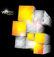 cube shapes vector image vector image
