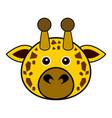 cute giraffe cute animal faces vector image vector image
