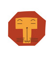 cute stylized lion head design element can vector image