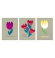 decorative cute bright tulip flower vector image vector image