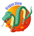 dragon show background vector image vector image