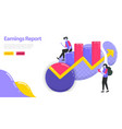 earnings report increase business and company vector image vector image