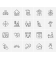 Family sketch icon set vector image vector image