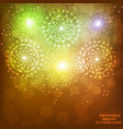 festive gold background vector image vector image