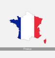 france map flag vector image