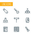 gastronomy icons line style set with corkscrew vector image vector image
