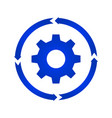 gear turn icon vector image vector image