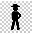 gentleman audacity icon vector image vector image