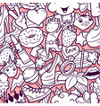 graffiti seamless pattern with girlish doodles vector image