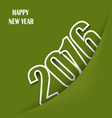 Green New Year wishes with pocket template vector image vector image