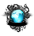 Grunge earth design vector image vector image