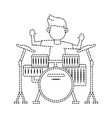 guy playing drum vector image